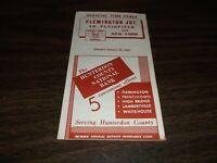 OCTOBER 1960 LEHIGH VALLEY FLEMINGTON JCT. SOUTH PLAINFIELD, NJ PUBLIC TIMETABLE