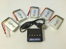 5x Syma X5C-1 X5C RC Quadcopter Part Lipo Battery 3.7v 800mAh + 5in1 Charger