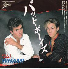 "45T 7"" WHAM (GEORGE MICHAEL) "" BAD BOYS "" JAPON RARE"