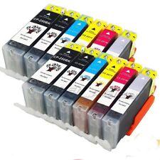 12 PK Printer Ink Set + CHIP w/ Gray fits Canon 250XL 251XL MG6320 MG7120 MG7520