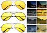 Polarized Night Vision Anti Glare Pilot Driving UV400 Lens Glasses Sunglasses