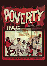 REPRINT PICTURE of old sheet music cover POVERTY RAG lincoln vandersloot 5x7