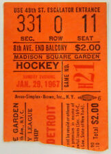 January 29, 1967 Hockey Ticket Stub Red Wings @ Rangers Madison Square Gardens