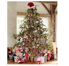 POTTERY BARN RED SANTA HAT HOLIDAY CHRISTMAS TREE TOPPER New