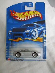 Hot Wheels 2002 Mainline Series Ferrari F355 Silver Body Sealed In Card