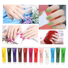 New 12 Color 3D Draw Paint Painting Brush Tube Acrylic UV Gel For Nail Art Tips