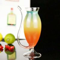 Creative Goblet Glass Mug With Straw For Cold Drink Home Use Party 2pcs 150ml
