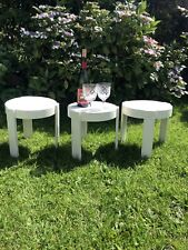 Retro 70s Stacking Plastic Small Tables Giotto Stoppino/kartell?