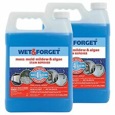 Wet & Forget Moss Mold Mildew & Algae Stain Remover 0.75-gallon 2 pack