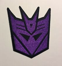 """High Quality Transformers Decepticon Embroidered Iron On Patch (2.75""""x3.25"""")"""