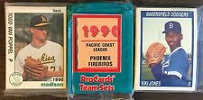 1990 Best SOUTHERN OREGON-A's Minor League Complete UNOPEN Team Set F6105618