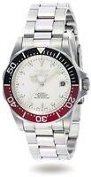 Invicta Men's Watch Pro Diver White Dial Automatic Silver Tone Bracelet 9404