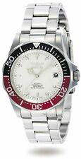 Invicta Men's Watch Pro Diver White Dial Automatic Silver Tone Bracelet 9404