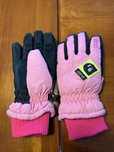 Atina Youth/Girl's Sz S Nylon Ski/Snow Winter Gloves - Waterproof ~Pink/Black~