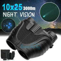 10X25 Binoculars with Night Vision BAK4 Prism High Power Waterproof+Carrying Bag
