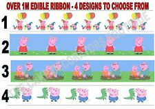 Peppa Pig Edible Cake Ribbon Iced / Icing / Frosting