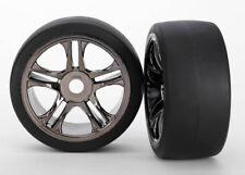 Traxxas 6477 Tires/Wheels Assembled Black Chrome Rear XO-1 (2)