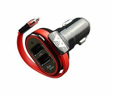MobiTronics New V2 3.4A Dual-Port USB High Speed Car Charger with a Built-in 10""