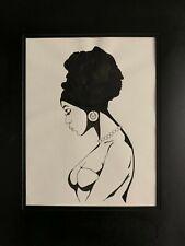 """Majestic Beauty"" Original Framed Art Black Culture Ink"