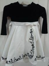 Girls Rare Editions 3T Dress Long Sleeve Velvet top with Satin Skirt