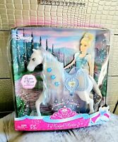 Disney Princess Cinderella Royal Shimmer Horse Pony Set Mattel 2007 NEW