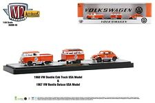 M2 Auto Haulers 48 1960 VW Double Cab Truck 1967 VW Bug Beetle with Trailer