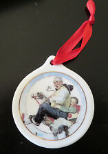 1997 Norman Rockwell Christmas Ornament Gramps at the Reins Jcpenny Collectible