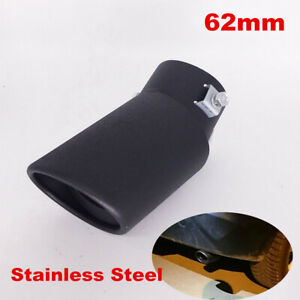 62mm Universal Car Rear Bend Exhaust Pipe Tail Muffler Tip Cover Accessories