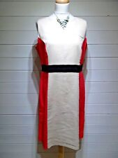 BHS Dress ~ Size 16 ~ Stone Coral Black ~ Sleeveless ~ Casual Party ~ 1945