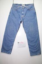 Levi's 505 (Cod.N471) Tg.52 W38 L30 regular fit  jeans usato