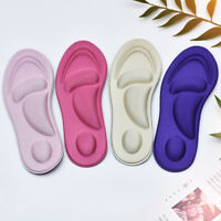1Pair 4D Sponge Pain Relief Soft Insoles Arch Support Cutting Foot Care Shoe Pad