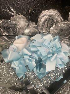 ⭐️⭐️Diamanté Stack Bow BLUE Socks 🧦 Ruffle tutu 9-12 Jazziejems boutique