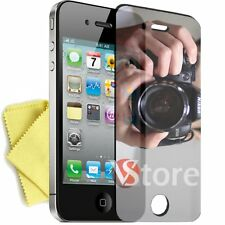 2 Films Mirror for iPhone 4/4G/4S Screen Protector LCD Film Mirror