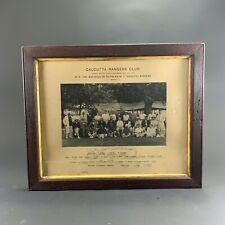 1898 MAHARAJA OF PATIALA XI v. 'CALCUTTA RANGERS CLUB' CRICKET MATCH PHOTOGRAPH