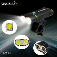 6000LM LED Fahrradlampe Set Fahrradbeleuchtung COB Rücklicht USB wiederaufladbar
