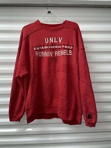 Vintage Starter UNLV Rebels Red Sweatshirt Established 1957 Size XLarge
