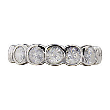 Sterling Silver Cubic Zirconia accent Engagement Rings