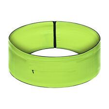 Unisex Elasticated Running Yoga Waist Belt Bag Zip Pouch Green Belt (M)