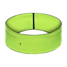 Unisex elasticizzata running Yoga Cintura Borsa Zip Pouch Cintura VERDE (M)