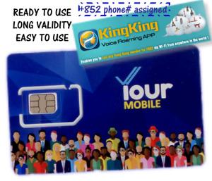 "New! +852 activated Hong Kong SIM card - CSL ""YOUR MOBILE"" ROAMING TAOBAO CHINA"