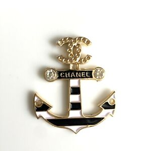 1 Anker Knopf Knöpfe Button Bouton Chanel CC Logo Zierteil Applikation Emblem