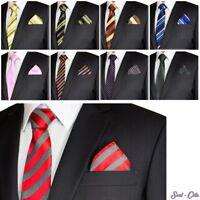 SET: gemusterte Krawatte mit Einstecktuch + Anleitung Streifen Schlips Herren