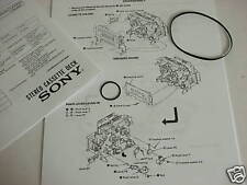 Denon DN-790R DRM-740 Cassette Deck Repair Belt Kit  New with Instructions
