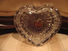 Valentines Day Romantic Gift VntageCut Glass Crystal Heart Trinket, Jewelry Box