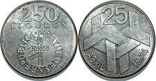 PORTUGAL 250 ESCUDOS ARGENT SILVER 1976 KM#604