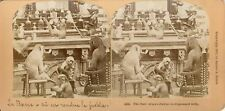 STEREOSCOPIE Stereoview KILBURN BAR JUSTICE  SINGE 1870