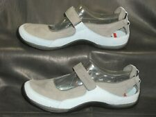 ECCO Receptor women's gray/blue nubuck leather Mary jane pump shoes size EU 37