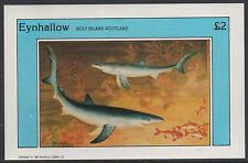 GB Locals - Eynhallow (1558) - 1982 FISH imperf £2 deluxe sheet u/m