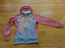Women's Nike Therma Fit Just Do It Losos/Gray Hooded Sweatshirt Size XS