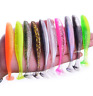 Soft Fishing Lure 50mm 1.2g Jigging Wobblers 10pcs/lot Mixed Color T-tail Baits